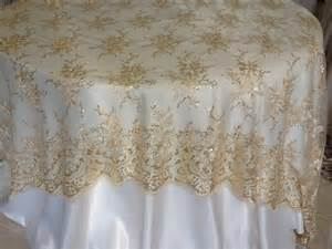 lace tablecloths for weddings chagne lace overlay wedding decor linens and beyond