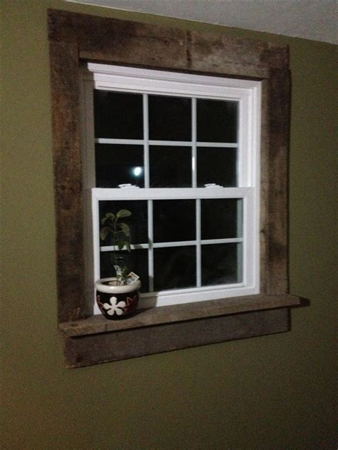 pallet window casings project  living room window