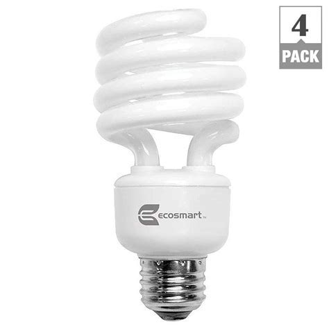 EcoSmart 100 Watt Equivalent Spiral CFL Light Bulb, Bright