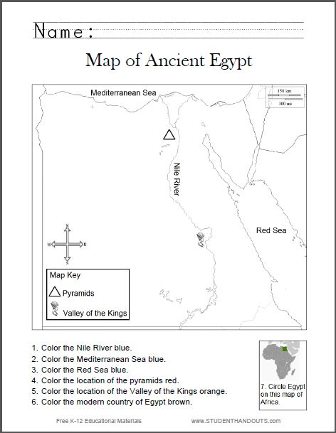 map of ancient worksheet for grades 1 6 free