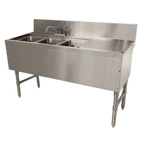 48 3 compartment sink advance tabco prb 24 43l 48 quot 3 compartment sink w 10 quot l x