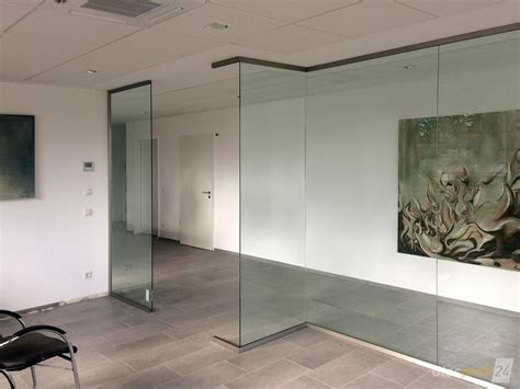 Trennwand Mit Glas by Glas Trennwand Slim Nach Ma 223 Gefertigt Glasprofi24