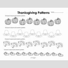 Making Patterns Thanksgiving Style (free Worksheet!)  Squarehead Teachers