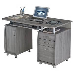 techni mobili small computer desk in grey rta 4985 gry