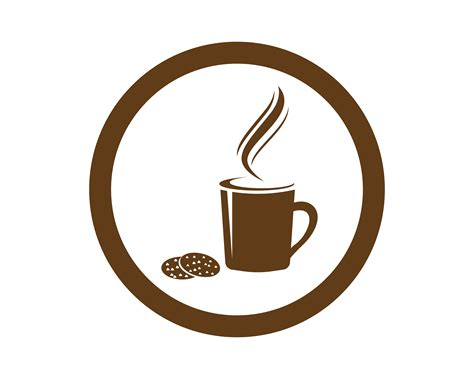 Vector brown coffee icons set. Coffee cup Logo Template vector icon design - Download Free Vectors, Clipart Graphics & Vector Art