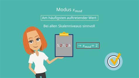 mittelwert median modus berechnung beispiel mit video