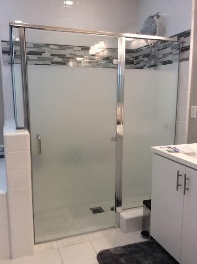 cover bathroom shower doors with privacy frosted widow
