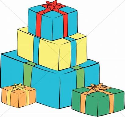 Christmas Clipart Boxes Gift Box Stack Presents