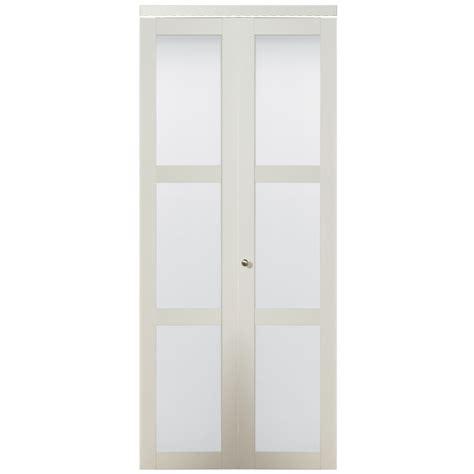 Frosted Glass Closet Doors by Kingstar 3 Lite Frosted Glass Bi Fold Closet Interior Door
