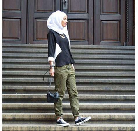 padu padan hijab  gaya liburan  stylish  nyaman