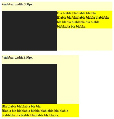 Div Align Right by Css Align Div Side By Side But Div Right With Min Width