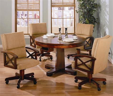 5 casual oak 3 in 1 recreational table set