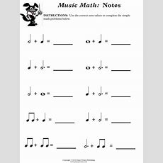 Free Theory Worksheet Simple Music Math  Children's Choir  Pinterest  Music Notes