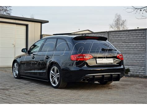 audi a4 b8 facelift audi a4 b8 8k facelift master rear bumper extension