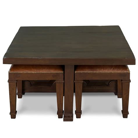 Coffee Table With 4 Nesting Stools - So That's Cool