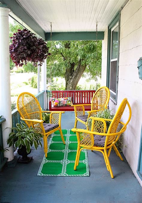 Cheap Porch Furniture by Front Porch Makeover For 100
