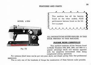 Domestic 564 Sewing Machine Instruction Manual