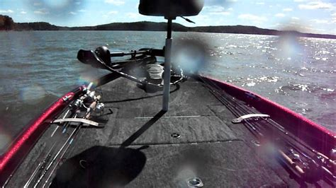 Bass Boat In Rough Water by Rough Water On The Tennessee River In A Triton Tr20 Bass