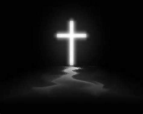 White Cross Background White Cross On Black Background As I See It