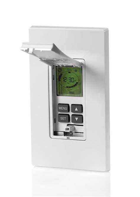 leviton programmable light switch leviton vpt24 1pz vizia 24 hour programmable indoor timer