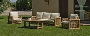 Salon De Jardin Bambou : salon de jardin bambou kingston 5 places avec coussins ~ Teatrodelosmanantiales.com Idées de Décoration