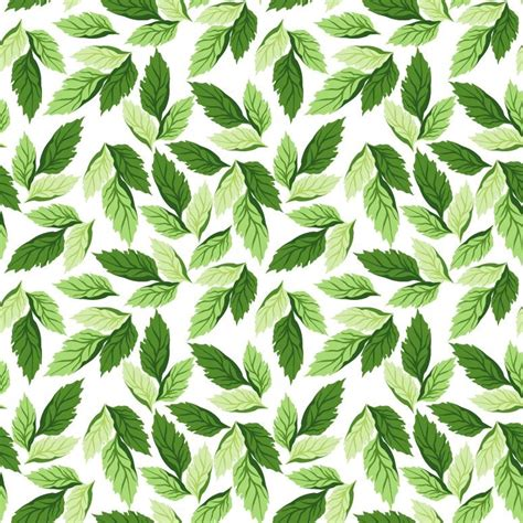seamless leaf pattern vector background free vector graphics all free web resources for