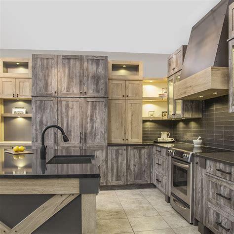 armoire de cuisine en aluminium armoires de cuisine au style rustique avec mélamine