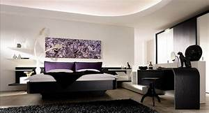 Elegant wallpainting idea at marvelous white bedroom wall