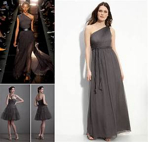 dark charcoal bridesmaids dresses fashion week 2012 With charcoal dresses for weddings