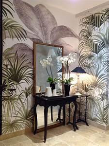 Papier Peint Ananbo : papier peint panoramique ananb d cor palmiers banos pinterest palms palm wallpaper and ~ Melissatoandfro.com Idées de Décoration