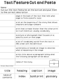 nonfiction text features worksheet 2nd grade the best