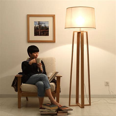wood floor standing lamp  living room reading floor