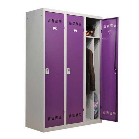 desserte bureau vestiaire industrie salissante 3 cases 120cm armoire plus