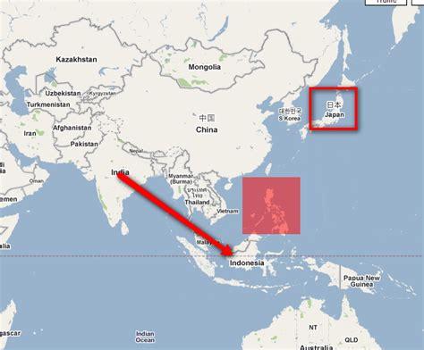 india  indonesia map