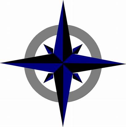 Compass Rose Clipart Clip Svg Bluegrey Transparent