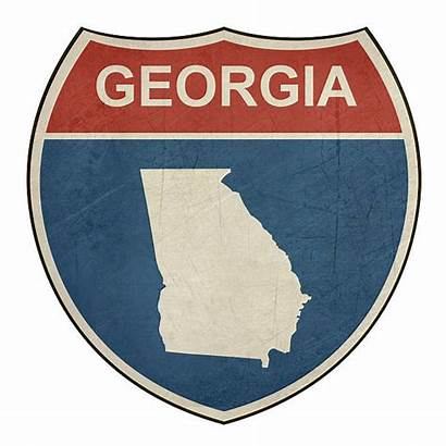 Georgia Clip Illustrations Highway Interstate Ga Shield