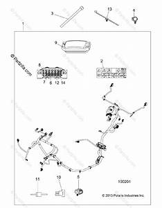 Polaris Atv 2016 Oem Parts Diagram For Electrical  Wire Harness