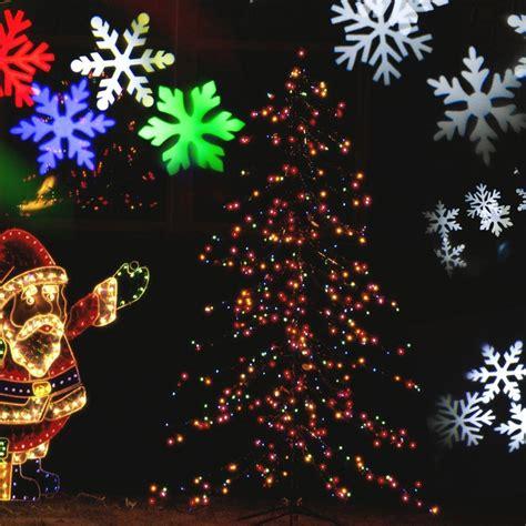 outdoor laser christmas led lights waterproof snowflake