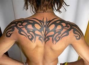 Awesome Upper Back Tribal Tattoos for Men | Tattoos for Men