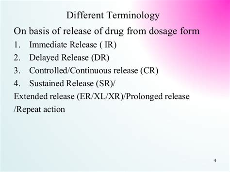 repeat action dosage form sustained release dosage form srdf