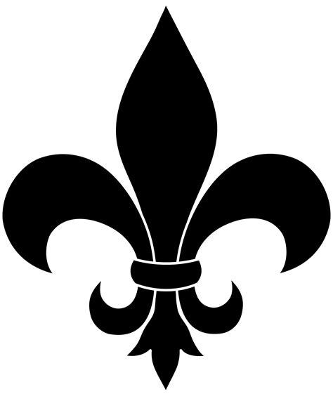 Black Fleur De Lis Silhouette Free Clip Art