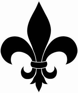 Black Fleur De Lis Silhouette - Free Clip Art