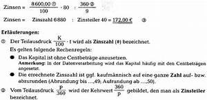 Laufzeit Kredit Berechnen : zinsrechnen richtig verstehen kaufm nnisches rechnen 123 versicherung ~ Themetempest.com Abrechnung