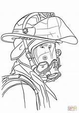 Firefighter Coloring Portrait Pages Fireman Fire Fighter Drawing Printable Firefighters Paper Games Dot Department sketch template