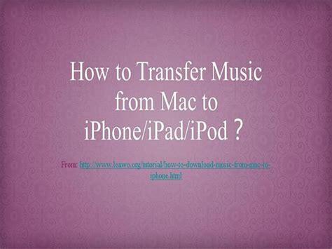 transfer   mac  iphone ipad ipod