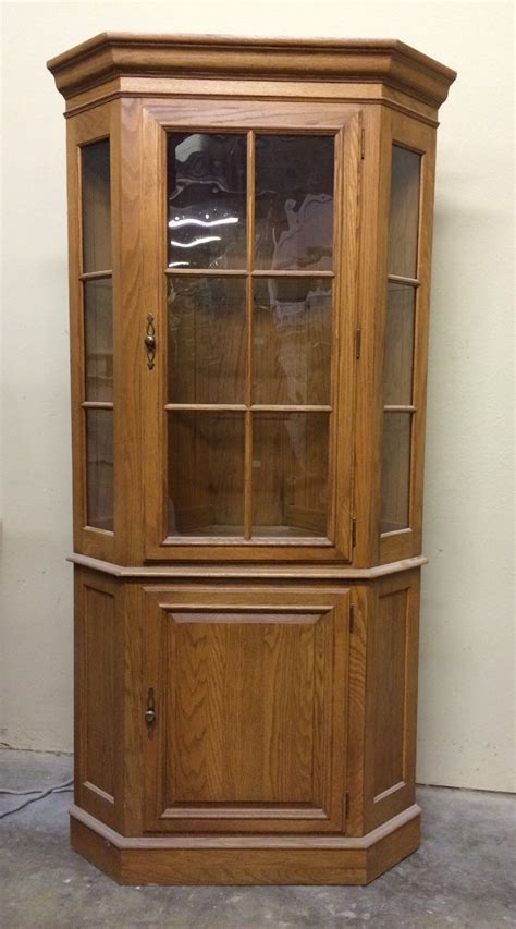 Ethan Allen Classics Curio Cabinet by Curio Corner Cabinet Ethan Allen Vintage Lighted Glass