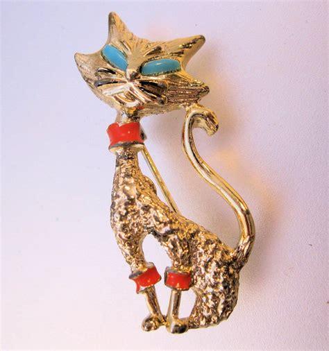 vintage gerrys siamese cat brooch pin