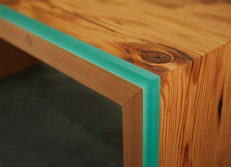Repeat. No Repeat.   Table/Bench made from salvaged wood and integrated
