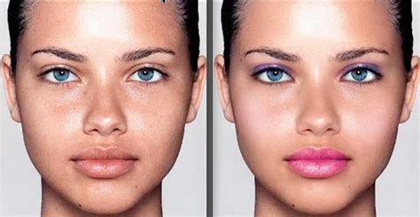 apply makeup  photoshop realistic makeover