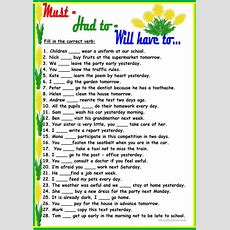 Musthad Towill Have To Worksheet  Free Esl Printable Worksheets Made By Teachers